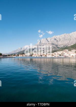 Makarska city in Croatia waterfront - Stock Image