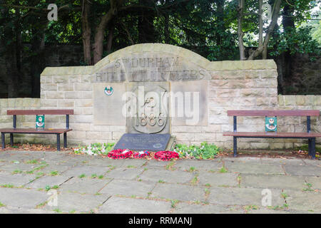 Durham Light Infantry  memorial in Saltwell Park, Gateshead, Tyne and Wear. The memorial to men who died in war of 1900-1945. The memorialwas unveiled - Stock Image
