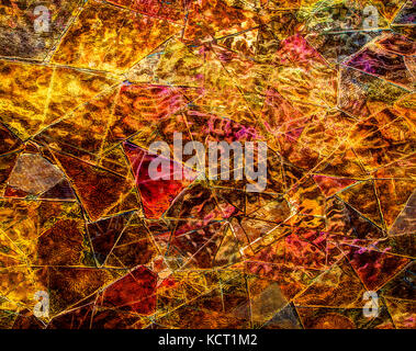 Color ceramic mosaic,multicolored mosaic on the wall - Stock Image