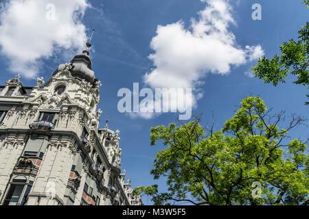 Monopol, Neo-Barock-Architektur, Zürich, Schweiz | Monopol building, neo baroque architecture, Zurich, switzerland - Stock Image
