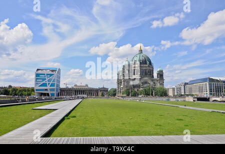 Berlin skyline picturing the Berlin Cathedral and Humboldt Box; Germany - Stock Image
