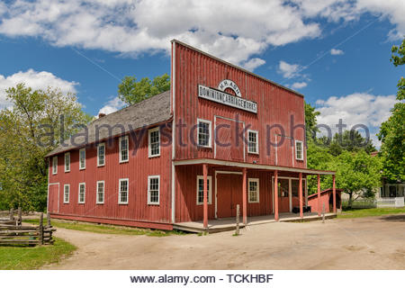 Toronto, Canada-May 30, 2019: Dominion Carriage Works wood building located in the Black Creek Pioneer Village which is a famous place and tourist att - Stock Image