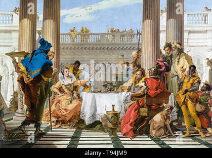 Giovanni Battista Tiepolo, The Banquet of Cleopatra, painting, c. 1743 - Stock Image