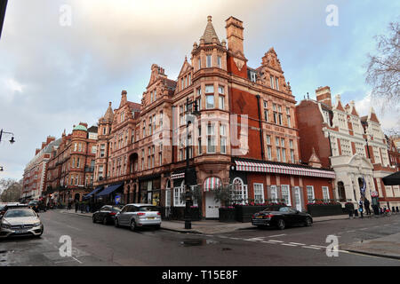 South Audley Street, Mayfair, London, England, UK - Stock Image