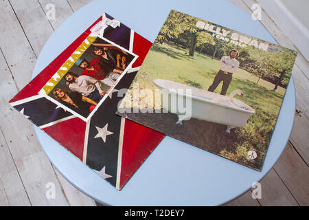 Covers to country music albums by Alabama and Billy Swan - Stock Image