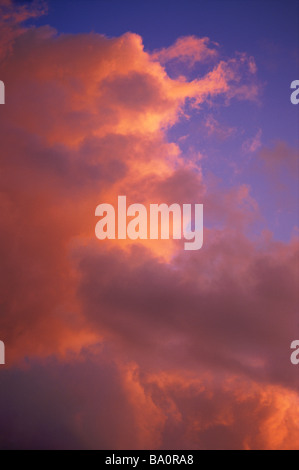 Sunset clouds - Stock Image