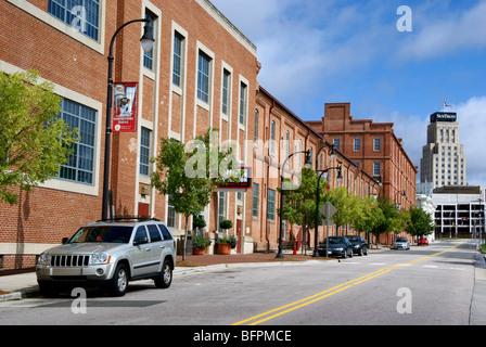 Durham, North Carolina, NC. Renovated American Tobacco district. - Stock Image