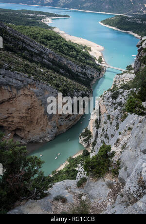 The entrance to the Gorge du Verdon, Haute Provence, France - Stock Image