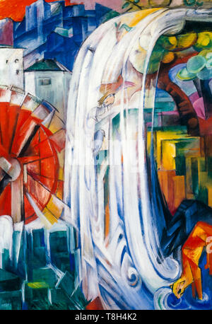 Franz Marc, The Bewitched Mill, painting, 1913 - Stock Image