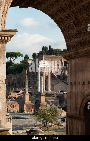 The Roman Forum detail, Rome, Italy - Stock Image