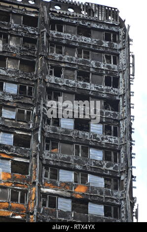 Grenfell tower fire, environmental pollution, contamination of environment - Stock Image