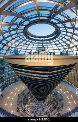 Reichstag buildling , cupola by Sir Norman Forster ,Berlin, - Stock Image