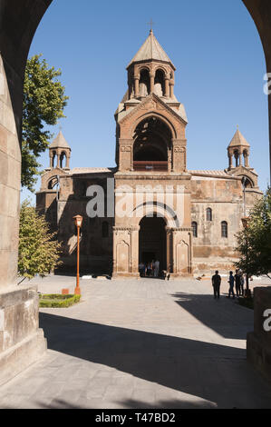 Armenia, Vagharshapat (Etchmiadzin), Etchmiadzin Holy See Cathedral, 301-303 AD, built by Armenia's patron saint Gregory the Illuminator. Mother churc - Stock Image