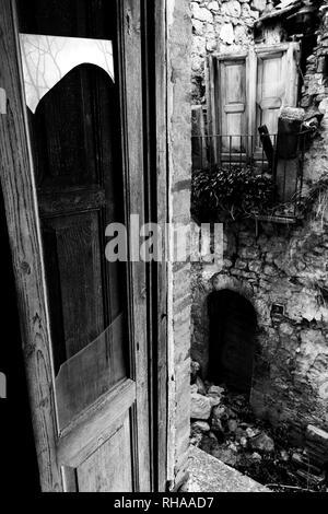 Abandoned village - Stock Image