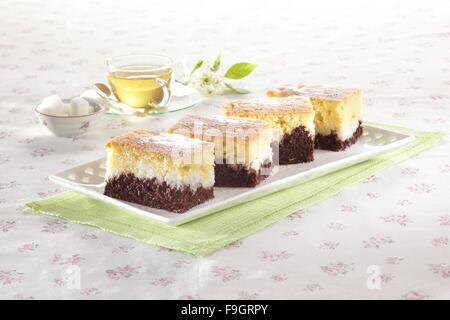 Marble cake - Stock Image