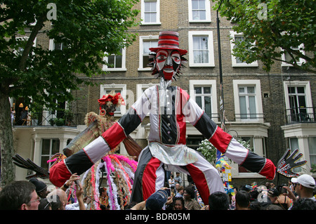 Carnival Figures in the Notting Hill Carnival Parade 2009 - Stock Image