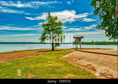 Fort Defiance at Confluence of Ohio and Mississippi Rivers - Stock Image