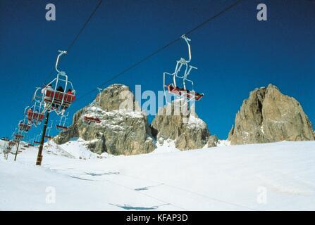 Trentino Sassolungo Ski - Stock Image