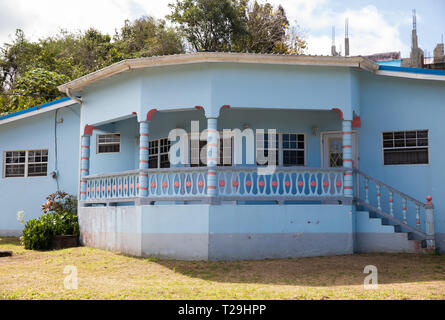 Colourful house in St Lucia, The Caribbean - Stock Image