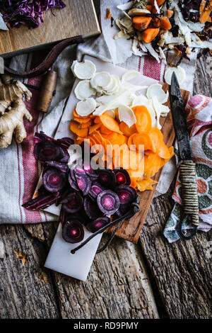 Winter vegetable roots - Stock Image