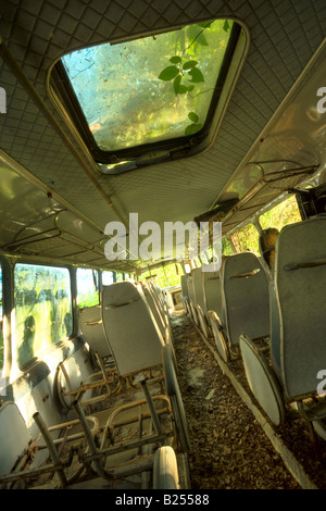 Abandoned bus - Stock Image