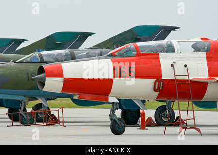 Croatian Air Force MiG-21 UMD and BISD fighters - Stock Image
