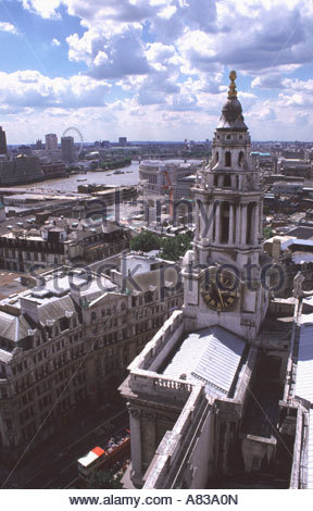London skyline from St Paul s Cathedral - Stock Image