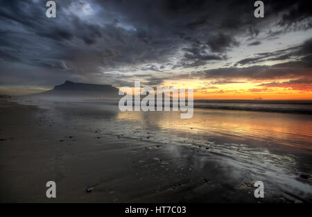 Table Mountain Sunset Beach - Stock Image