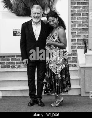 Los Angeles, CA - June 02, 2019: Harrison Ford and Tiffany Haddish attend the Premiere Of Universal Pictures' 'The Secret Life Of Pets 2' held at Rege - Stock Image