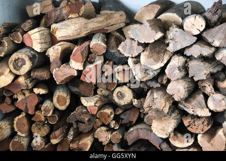 Stack of firewood - Stock Image