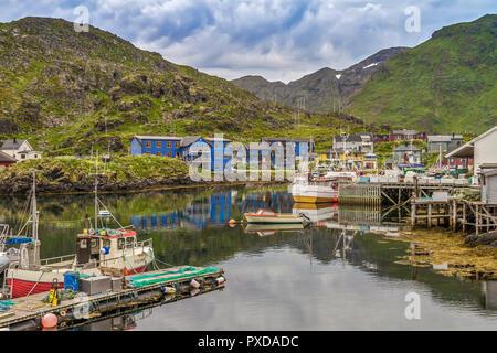 Skarsvag Village Mageroya Island Norway - Stock Image