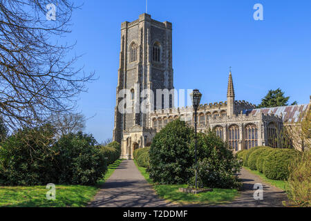 st peter and st paul parish church, Lavenham Town Centre, Suffolk, England, UK, GB - Stock Image