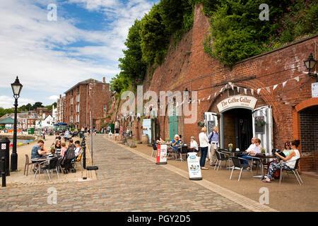 UK, England, Devon, Exeter, River Exe Quayside tourism businesses - Stock Image