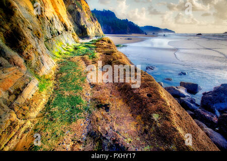 Path/road/trail at Hug Point State Park, Oregon - Stock Image