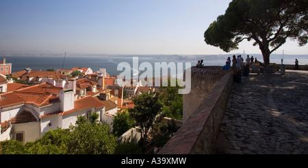 Portugal Lisbon Lissabon Castelo de Sao Jorge - Stock Image
