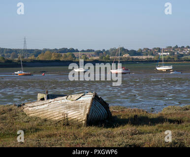 River Stour at Manningtree low tide - Stock Image
