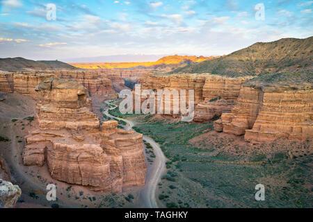 View of Charyn Canyon in Almaty Region, Kazakhstan - Stock Image