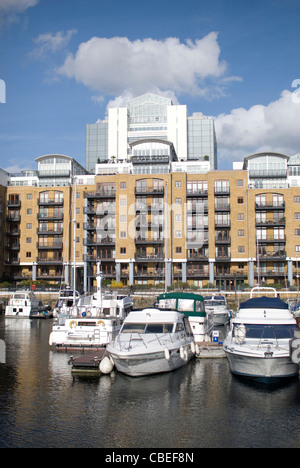 St. Katherines Dock,London,England - Stock Image