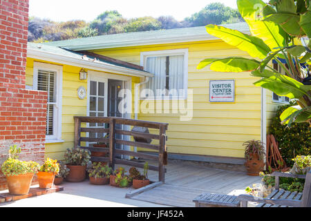 The visitor center at Crystal Cove Historic District part of Crystal Cove State Park California USA - Stock Image