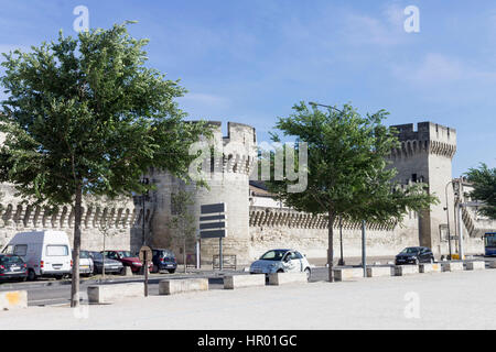 City Walls in Avignon Provence France - Stock Image