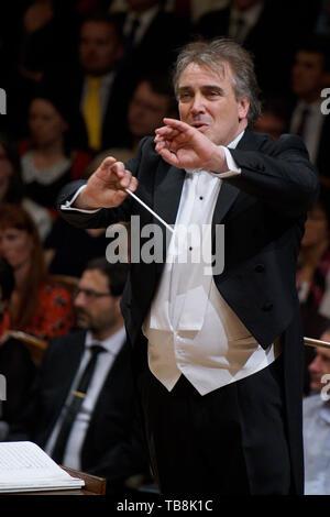 Prague, Czech Republic. 30th May, 2019. Spanish conductor Jaime Martin leads Orquestra de Cadaques on Prague Spring International Music Festival in Prague, Czech Republic, on Thursday, May 30, 2019. Credit: Michaela Rihova/CTK Photo/Alamy Live News - Stock Image