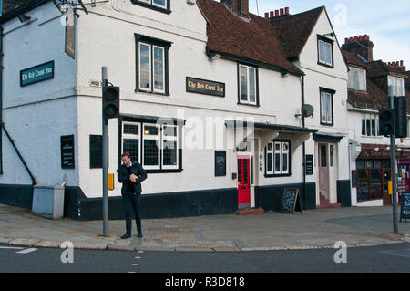 Exterior Of The Red Cross Inn Pub Reigate Surrey UK - Stock Image