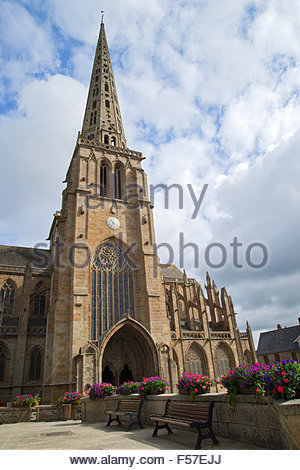 Saint-Tugdual cathedral in Tréguier - Brittany - France - Stock Image