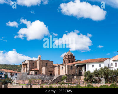 Side view of the Qorikancha temple in downtown Cusco - Stock Image
