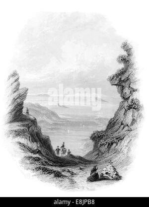 Pass of Salruc County Galway Republic Ireland circa 1840` - Stock Image