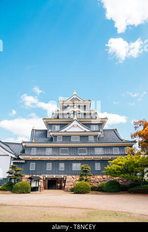 Okayama Castle traditional architecture in Japan - Stock Image