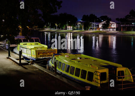 River ferries on Yarra River in Melbourne. - Stock Image
