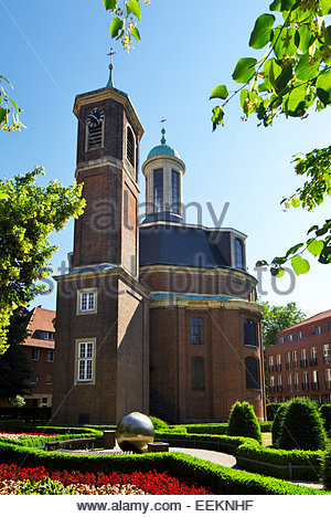 Baroque St. Clemens' Church, built between 1745 and 1753, part of monastery, hospital of Barmherzige Brüder - Stock Image