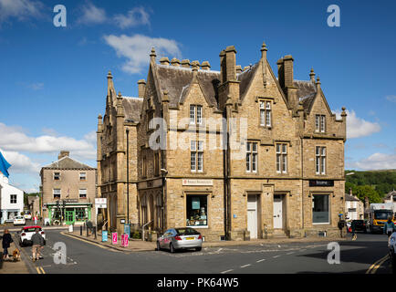 UK, Yorkshire, Settle, Cheapside, Town Hall with Tourist Information Centre - Stock Image