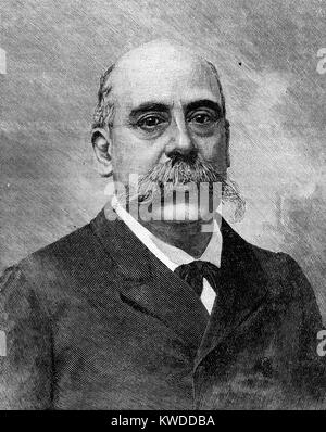 Portrait of Emilio Castelar (1832-1899), President of the First Repulic in Spain 1873-1874) - Stock Image
